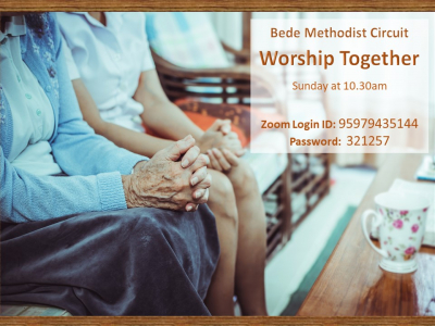 Worship together Sunday